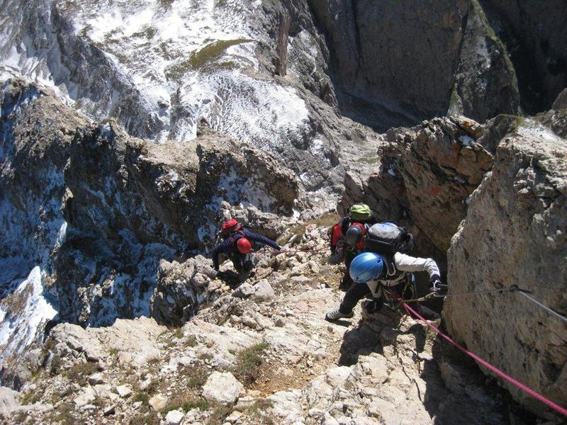 Klettersteig Dolomiten : Sextner rotwand rotwandspitze klettersteige bergtouren